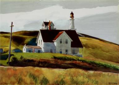Hill and Houses Cape Elizabeth Maine - Edward Hopper