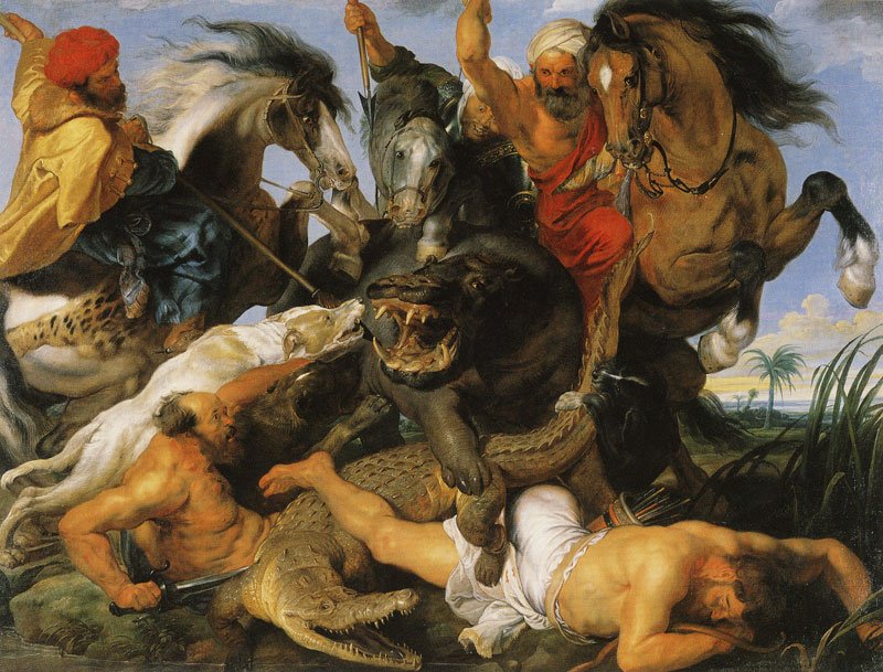 Hippopotamus and Crocodile Hunt - Peter Paul Rubens