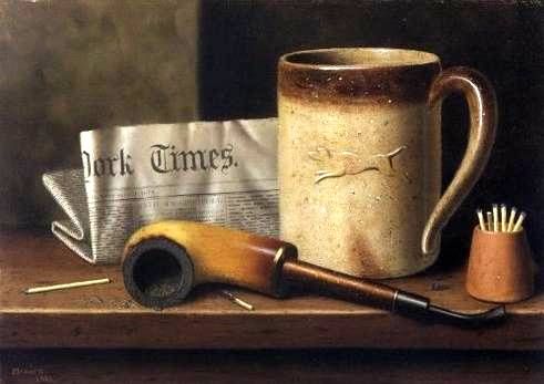 His Mug and His Pipe - William Harnett
