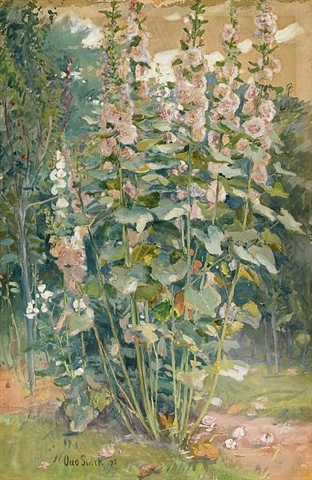 Hollyhocks - Otto Stark