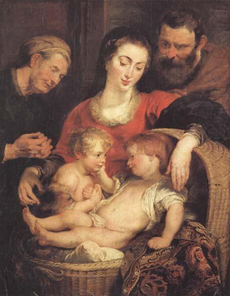 Holy Family with St. Elizabeth - Peter Paul Rubens