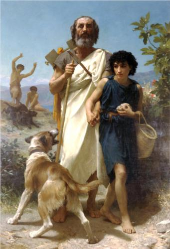 Homer and his Guide - William Adolphe Bouguereau