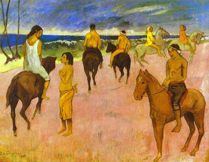 Horseman on the Beach - Paul Gauguin