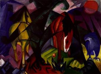 Horses and Eagle - Franz Marc