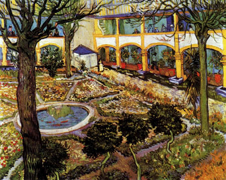 Hospital Garden at Arles - Vincent van Gogh