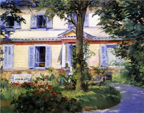 House at Rueil - Edouard Manet