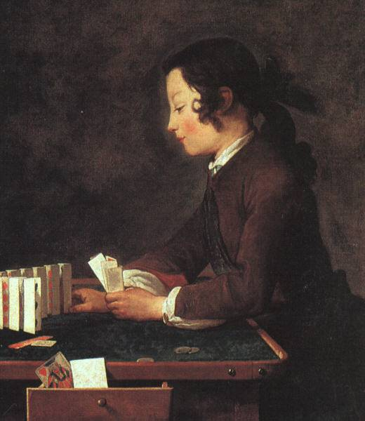 House of Cards - Jean Baptiste Simeon Chardin