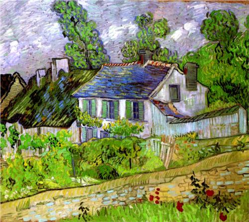 Houses at Auvers - Vincent Van Gogh