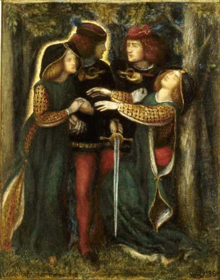 How They Met Themselves - Dante Gabriel Rossetti