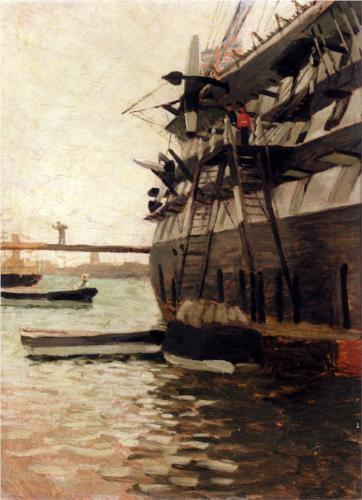 Hull of a Battle Ship - James Tissot