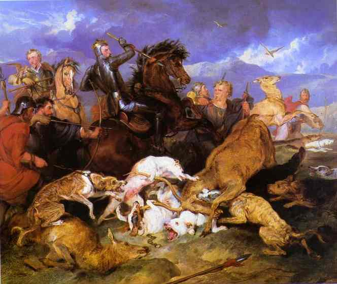 Hunting of Chevy Chase - Edwin Henry Landseer