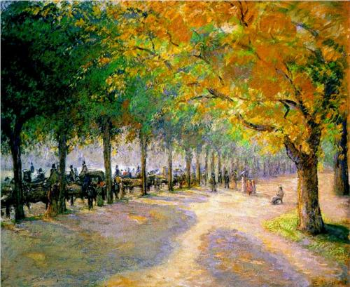 Hyde Park, London - Camille Pissarro