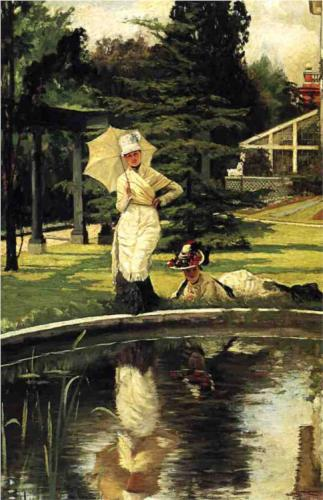 In an English Garden - James Tissot