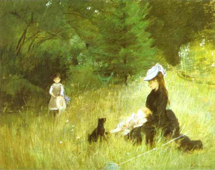 In the Grass - Berthe Morisot