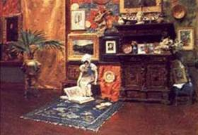 In the Studio - William Merritt Chase