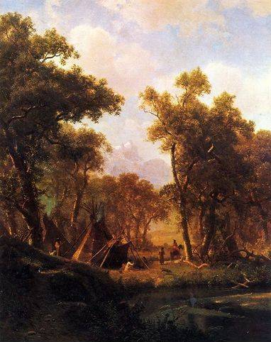 Indian Encampment, Shoshone Village - Albert Bierstadt