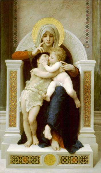 Infant Jesus and St Jean Baptist - William Adolphe Bouguereau