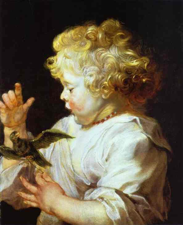 Infant with a Bird - Peter Paul Rubens