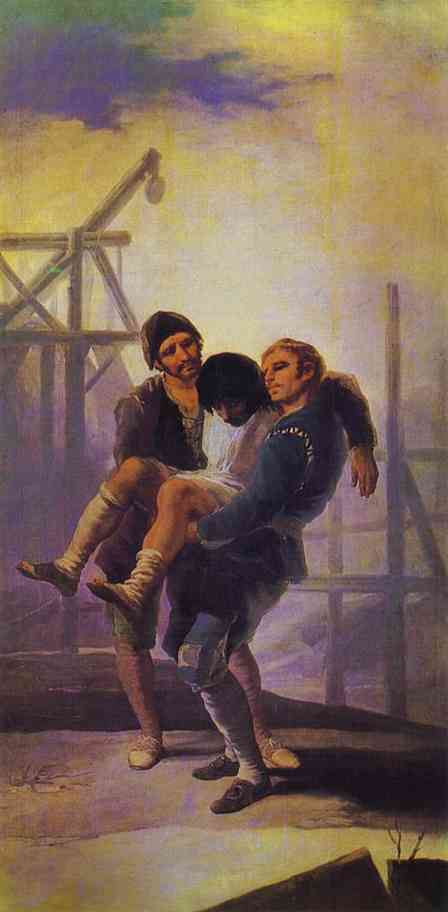 The Injured Mason - Francisco de Goya