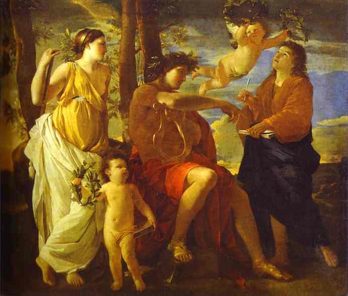 Inspiration of the Poet - Nicolas Poussin
