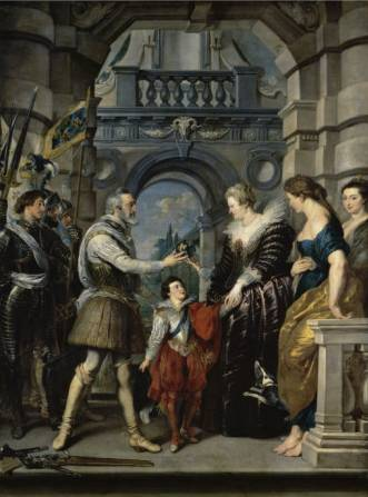 Institution of the Regency - Peter Paul Rubens