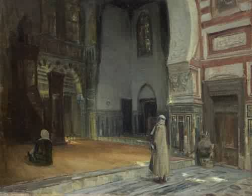 Interior of a Mosque Cairo - Henry Ossawa Tanner