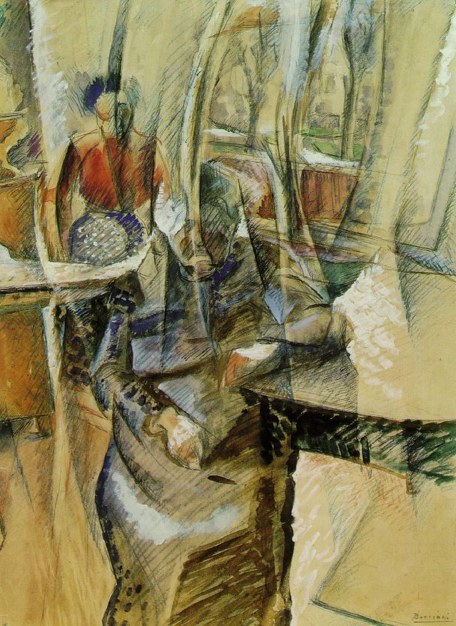 Interior with Two Female Figures - Umberto Boccioni