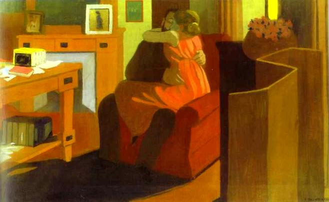 Intimacy (Couple in Interior) - Felix Vallotton