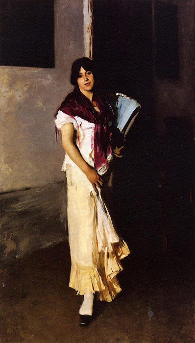 Italian Girl with Fan - John Singer Sargent