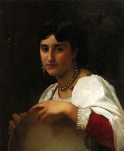 Italian Tambourine - William Adolphe Bouguereau