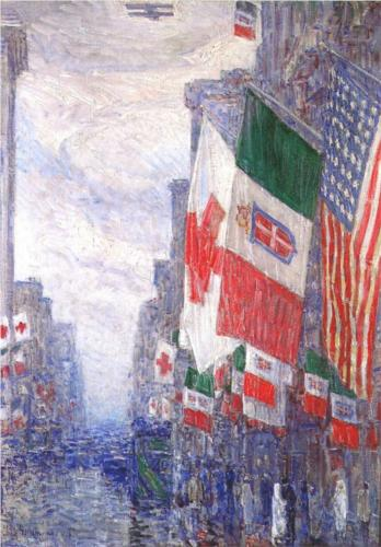 Italian Day, May - Childe Hassam