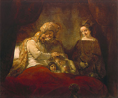 Jacob Blessing the Sons of Joseph - Rembrandt van Rijn