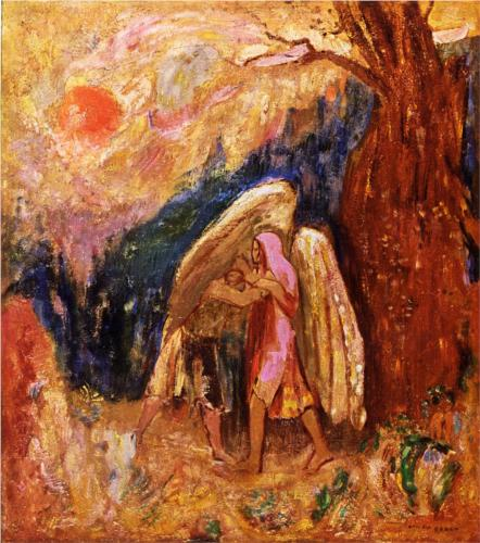 Jacob Wrestling with the Angel - Odilon Redon