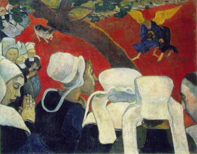 Jacob Wrestling with the Angel - Paul Gauguin