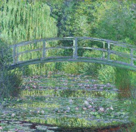 Japanese Bridge Over Water Lilies   Claude Monet
