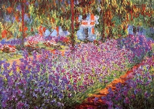 Artist 39 s garden of irises claude monet oil painting - Livre le jardin de monet ...