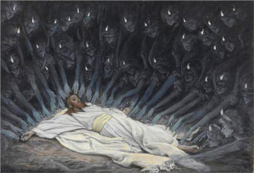 Jesus Ministered to by Angels - James Tissot