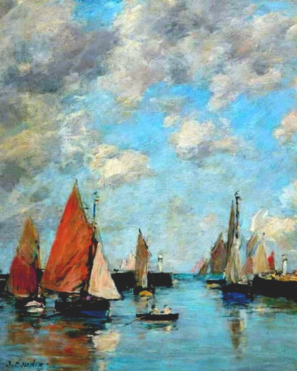 Jetty at High Tide, Trouville - Eugene Boudin