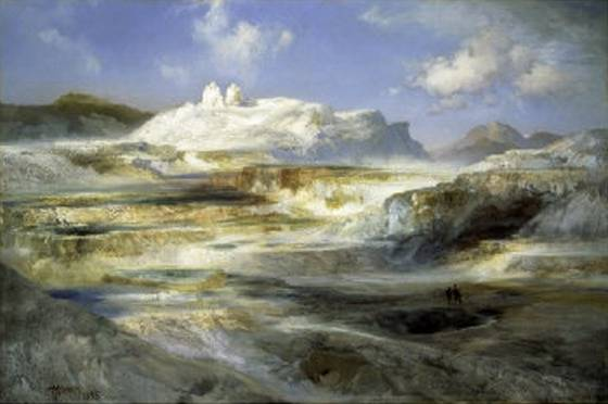 Jupiter Terrace Yellowstone - Thomas Moran
