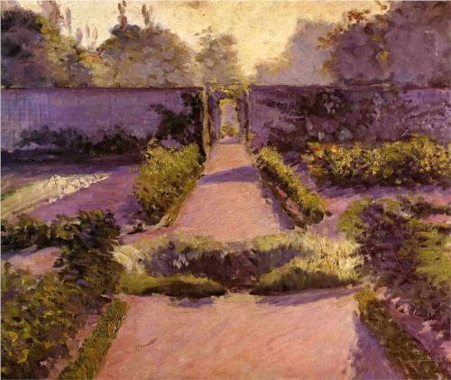 Kitchen Garden at Yerres - Gustave Caillebotte