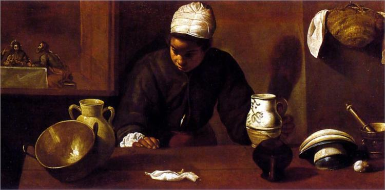 Kitchen Scene with the Supper in Emmaus - Diego Velazquez