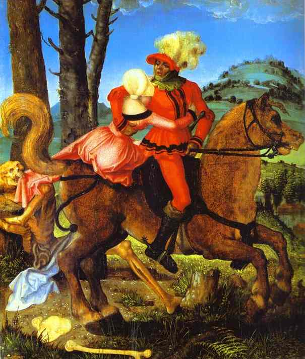 Knight, Young Girl, and Death - Hans Baldung Grien
