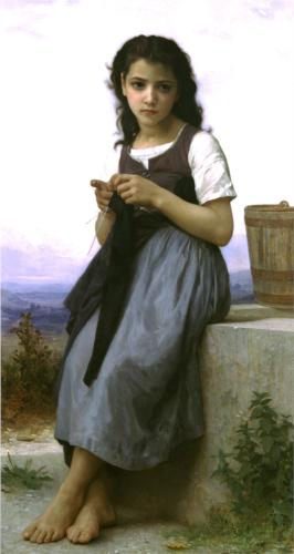 Knitter - William Adolphe Bouguereau