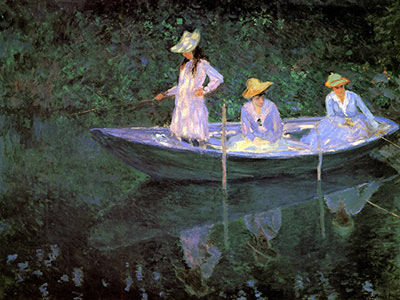 La Barque A Giverny - Claude Monet