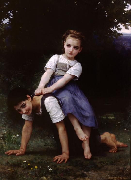 La Bourrique - William Bouguereau