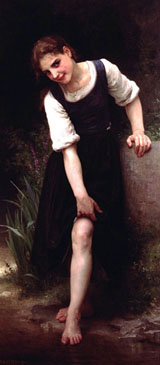 La Gue - William Adolphe Bouguereau