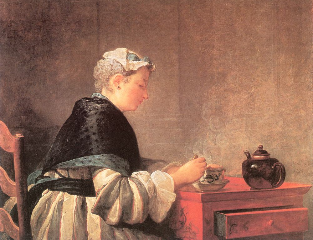 Lady Taking Tea - Jean Baptiste Simeon Chardin