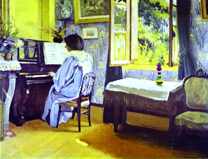 Lady at the Piano - Felix Vallotton