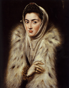 Lady in a Fur Wrap - El Greco