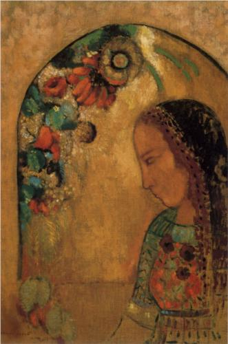 Lady of the Flowers - Odilon Redon